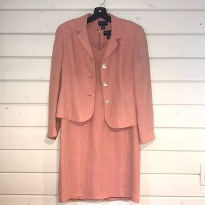 Peach Linen suit